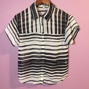 B&W Striped Blouse